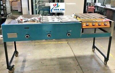 New 80 Griddle Broiler Combo Cart Comal Asada Burger Pollo Hot Dog Taco Propane