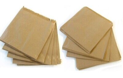 1000 x Kraft Brown Strung Paper Food Bags Fruit Pastry Sandwich Veg 7inch 18cm