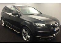 Black AUDI Q7 3.0 TDI Diesel QUATTRO S LINE Plus FROM £124 PER WEEK!