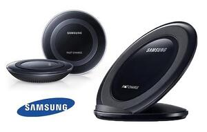 Samsung Fast Charge Qi Wireless Charging Pad / Stand with Wall Charger + USB Cable