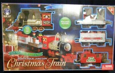 Train set North Pole Junction Christmas Train Set 34 pc set new openbox