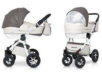 Leather 3in1 Pushchair, Stroller, Pram, Car seat, Travel System