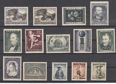 Österreich Jahrgang 1952 postfrisch komplett