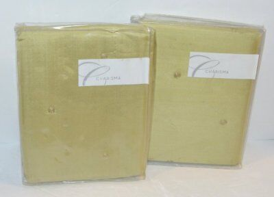 2 Charisma Alexa Spa Green Silk Quilted King Shams Set New Spa Quilted Sham Set