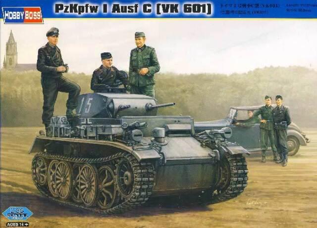 HobbyBoss PzKpfw I Ausf.C (VK 601) Tank Panzer I - 1:35 Modell-Bausatz NEU kit