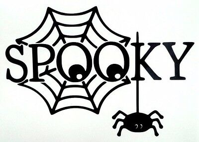 Spider Web Spooky Halloween Cool Car Window Vinyl Decal Sticker Choose 10 - Cool Halloween Cars
