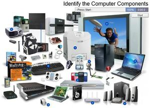 Many used and new computer parts and comuters; one server.