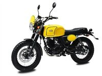 AJS TEMPEST 125CC CLASSIC SCRAMBLER, NEW, FINANCE AVAILABLE, ONE YEAR WARRANTY, LEARNER LEGAL