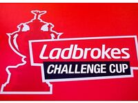 Ladbrokes Challenge Cup Final Wembley Stadium - 4 TICKETS
