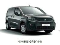 Brand New Peugeot Partner Vans, available for 5-6 months factory order only