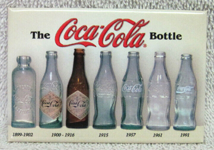 COCA-COLA BOTTLE HISTORY MAGNET, NEW! - FREE SHIPPING!