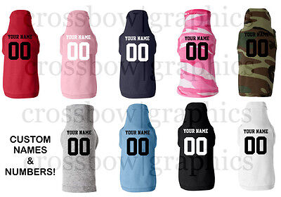 CUSTOM  PET JERSEY T-Shirt Personalized ANY COLOR Name Number Dog Canine (New Dog Pet Jersey)