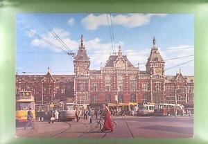 CPA Holland Amsterdam Bahnhof Railway Station Gare Bicycles Bike Tramway k575 - <span itemprop='availableAtOrFrom'>DABROWA, Polska</span> - CPA Holland Amsterdam Bahnhof Railway Station Gare Bicycles Bike Tramway k575 - DABROWA, Polska