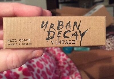 Brand New Urban Decay Vintage Nail Color In UV-B (Electric Blue) Limited Edition