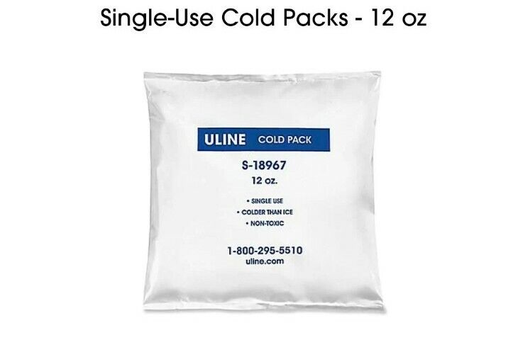 NEW - ULINE 24 pack of 12 oz single use cold Packs S-18967