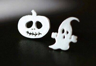 Silver Halloween Pumpkin Ghost Stud  Fashion Earring Boho Festival Party Uk