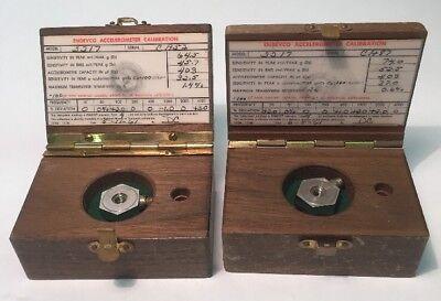 Endevco 2217 Vintage Accelerometer In Wood Box Lot Of 2