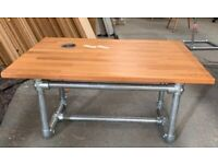 design wooden coffee table scaffolding base