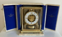 Fully Serviced! Late 1950's Jaeger LeCoultre Atmos 526-5 Clock & Box- Working!