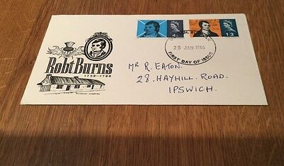 1966 First Day Cover Robert Burns 1759 - 1796