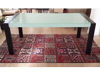CANTONI FROSTED GLASS DINING TABLE