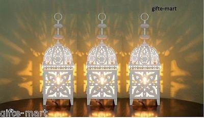 "12 white 11"" Moroccan Marrakech Lantern Candle holder wedding table centerpiece"