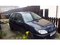 Saxo for sale spare or repairs