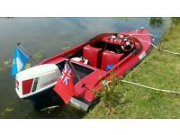 Shark Speedboat with Snipe trailer plus extras
