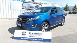 2018 Ford Edge Sport2.7L Ecoboost 315HP, with Leather, Moon & Na