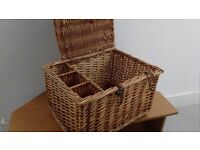 large picnic wicker basket