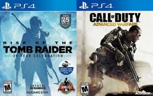 Selling/Trading PS4 Call Of Duty Advanced Warfare, Tomb Raider