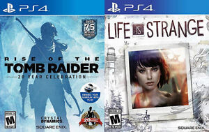 Selling/Trading PS4 Tomb Raider, Life Is Strange