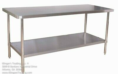 30 X 96 All Stainless Steel Work Table