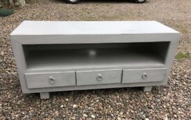TV Unit painted in Annie Sloan Paris Grey