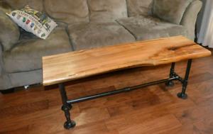 Maple table / bench live edge
