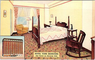 St Louis  Mo Missouri     Hotel York   C1940s    Linen    Postcard