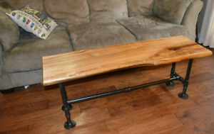 Live edge maple bench or coffee table