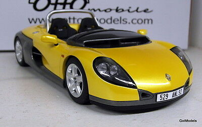 Otto 1/18 Scale OTT161 Renault Sport Spider Yellow Grey Resin Cast model Car