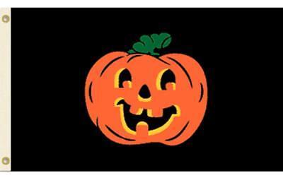 HALLOWEEN CARVED SMILE PUMPKIN FACE 3X5 FLAG FL748 3 X 5  hanging polyester NEW](Carve Pumpkin Face Halloween)