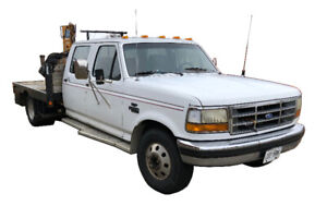 Ford F350, Flat Deck with Crane