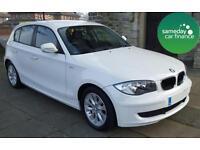 £197.37 PER MONTH WHITE 2011 BMW 116D 2.0 ES 5 DOOR DIESEL MANUAL
