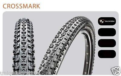 "2Pcs Maxxis Crossmark MTB BicycleTyres 26//27.5//29 /"" Black Mountain Bike Tire"