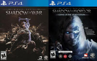 Selling/Trading PS4 Shadow Of War, Mordor Game Of The Year Ed