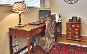 Stylish wooden desk and 2x chest of drawers from The Bombay Co.
