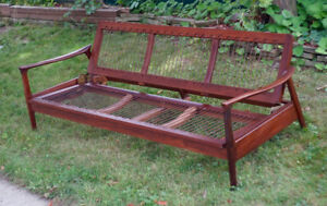 Superb 1960s Mid Century Danish Teak Sofa Couch & Day Bed