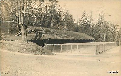 1917 Tacoma Point Defiance Pheasant Cages Muir RPPC Real photo postcard 1006