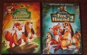 The Fox And The Hound 1& 2 DVD's