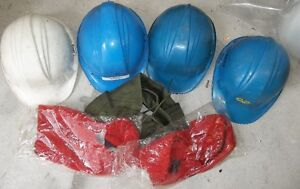 4 - HARD HATS WITH 2 WINTER LINERS  $20.00 FOR ALL