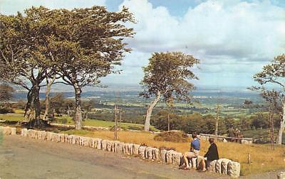 DUBLIN, Ireland  PEOPLE & DOG IN DUBLIN MTNS View of  CITY & BAY Chrome Postcard