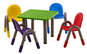 Bravo table and 4 chairs set for kids